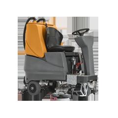 Garage ô tô dùng máy chà sàn ngồi lái Grande có lợi ích gì?